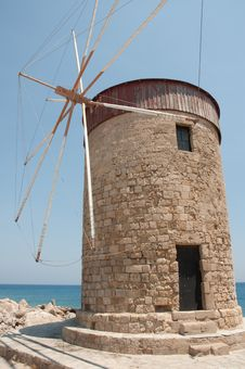 Rhodes Windmill Royalty Free Stock Image