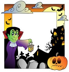 Free Frame With Halloween Topic 2 Royalty Free Stock Images - 20871049