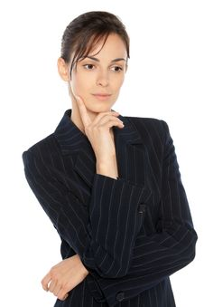 Thoughtful Business Woman Stock Photos
