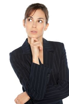 Free Surprised Business Woman Stock Image - 20871151