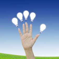 Free Hand With Light Bulb Stock Images - 20872414