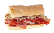 Free Ham And Pepperoni Sandwich Stock Photos - 20872673