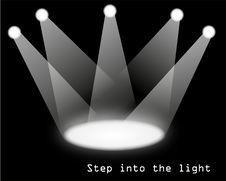 Free White Spotlights Stock Photography - 20873082