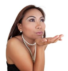 Free Blowing A Kiss Royalty Free Stock Photography - 20873277