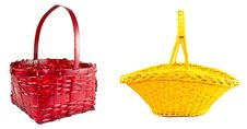 Free Red And Yellow Braided Basket Stock Image - 20875251