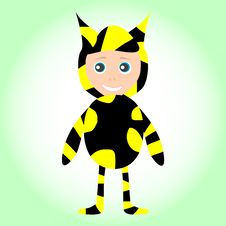 Free Cute Little Baby Boy Wearing Funny Bee Costume Royalty Free Stock Image - 20875256