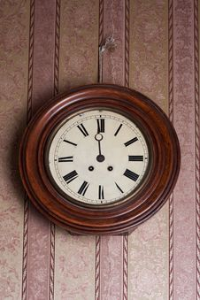 Free Retro Wall Clock Royalty Free Stock Images - 20875689