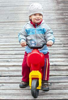 Free Little Boy On Motorbike Stock Images - 20875854