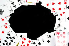 Free Playing Cards Isolated On Black Royalty Free Stock Images - 20876059