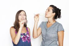 Free Two Woman Drinking Champagne Stock Image - 20876101