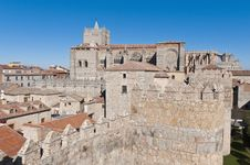 Free Del Salvador Cathedral At Avila, Spain Stock Photography - 20876202