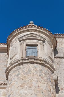 Free Defensive Walls Tower At Avila, Spain Royalty Free Stock Image - 20876386