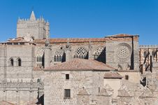 Free Del Salvador Cathedral At Avila, Spain Royalty Free Stock Images - 20876489