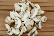 Sliced Mushrooms Royalty Free Stock Photo