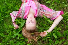 Free Woman On The Grass Royalty Free Stock Photos - 20876978