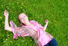 Free Portrait Of A Young Woman On The Meadow Stock Image - 20877061