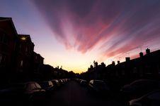 Free Sunset Over An Urban Street Royalty Free Stock Photos - 20877398