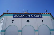Aquarium And Cafe Royalty Free Stock Photography