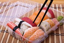 Free Fish Sushi Set With Sticks Stock Photos - 20877813