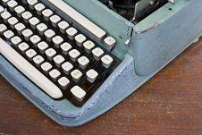 Old Type Device Keyboard Stock Photo