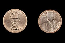 Free Abe Lincoln Dollar Coin Stock Images - 20878844