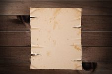 Free Old Yellow Paper On Wooden Wall. Stock Image - 20879061