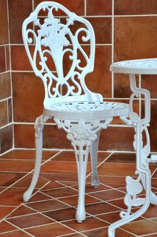 Free Iron Table And Chair In Carving Stock Images - 20879164