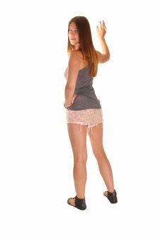 Girl Standing From Back. Stock Images