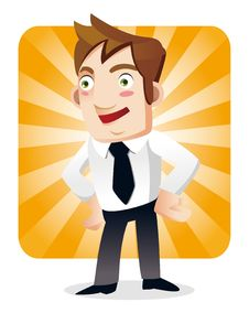 Free Funny Cartoon Office Worker Stock Photo - 20879530