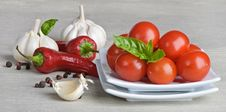 Free Tomatoes,peppers And Garlic Royalty Free Stock Image - 20879866
