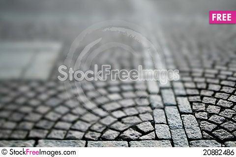 Free Cobblestone Pavement Royalty Free Stock Image - 20882486