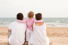 Free Family With Child On The Beach Royalty Free Stock Photo - 20880665