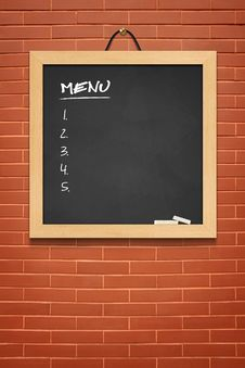 Menu Boards, Small Black Stock Images