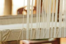 Free Part Of Loom White Thread Homemade Stock Photography - 20881262