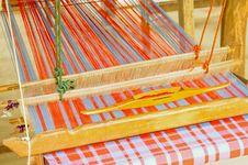 Free Part Of Loom White Thread Homemade Stock Photo - 20881320