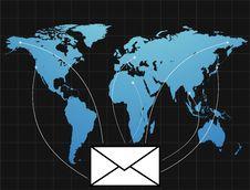 E-mail On The World Stock Photos