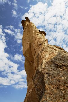 Free Cappadocia Rock Formation Unusual Angle Int Blue S Royalty Free Stock Image - 20881746