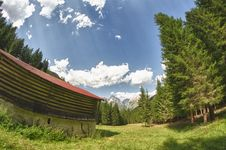 Free Hut And Trees In The Dolomites Royalty Free Stock Photography - 20881827