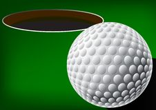 Golf Ball With Hole Royalty Free Stock Image
