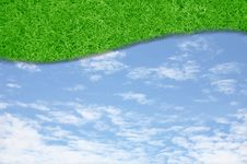 Free Curve Green Grass Sky Royalty Free Stock Photography - 20882777
