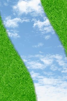 Free Curve Green Grass Sky Stock Photos - 20882793