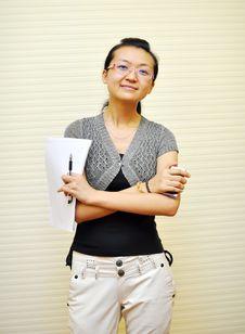 Asian White-collar Woman Stock Photo