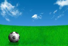 Free Ball Football Landscape Royalty Free Stock Photos - 20885078