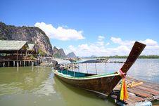 Free Long Tail Boat At Phangnga Bay Stock Photos - 20885103