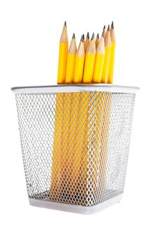 Free Pencils In Pencil Holders Stock Image - 20885861