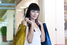 Free Beautiful Woman With Shopping Bags Royalty Free Stock Photography - 20886087