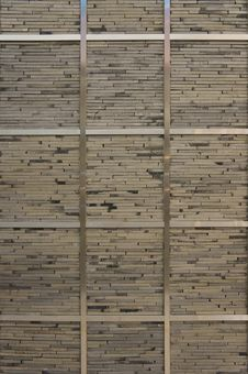 Free Concrete Slabs Wall With Metal Strips Stock Photos - 20886183