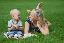 Free Mother And Son Royalty Free Stock Images - 20889409