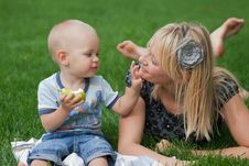 Free Mother And Son Royalty Free Stock Photos - 20889468