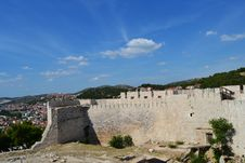 Walls Of The Castle Of Sibenik, Croatia Stock Photography